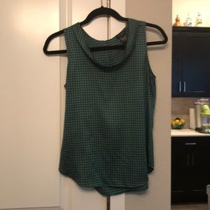Cute, green sleeveless blouse
